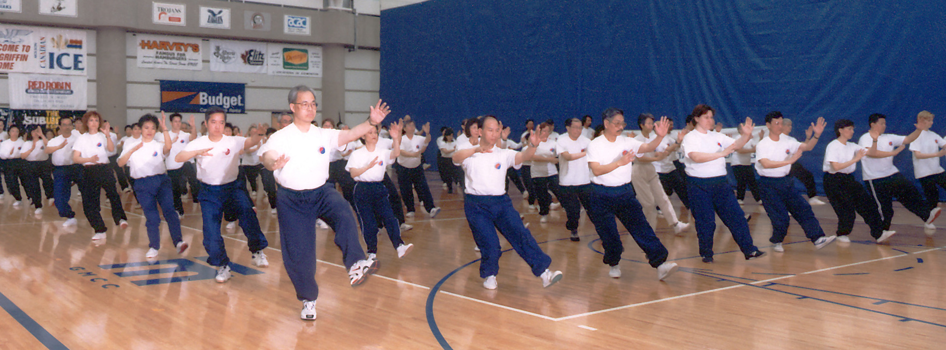 Tai Chi class, group demo